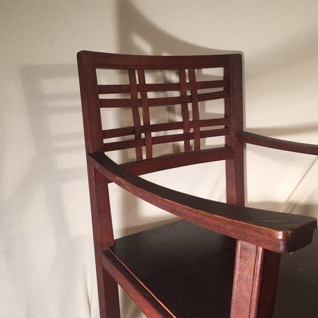 Modernist Oak Armchair - Image 3 of 6