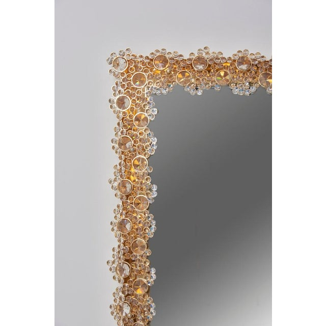 Metal Outstanding Square Illuminated Palwa Crystal Glass Mirror, Model S100w For Sale - Image 7 of 11