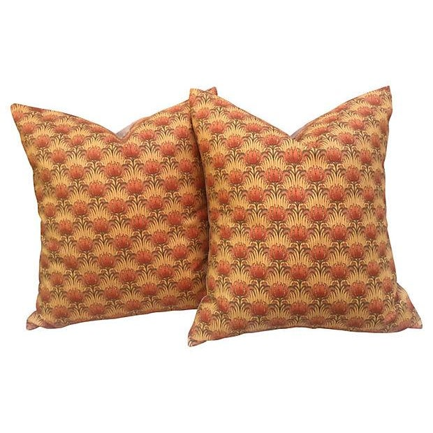 William Morris Floral Pillows, Pair - Image 1 of 3