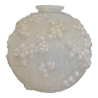 R Lalique Glass Vase For Sale