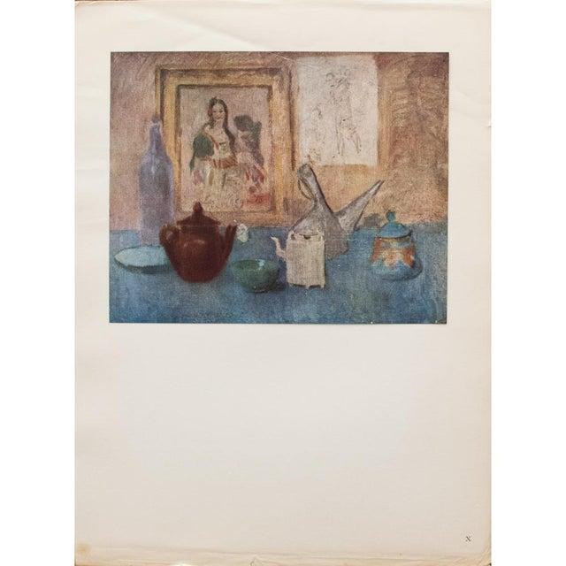 Blue Original 1948 Picasso Nature Morte Au Tableau Lithograph For Sale - Image 8 of 9