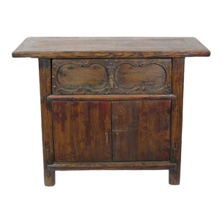 Cabinet With One Hand Carved Front Drawer For Sale