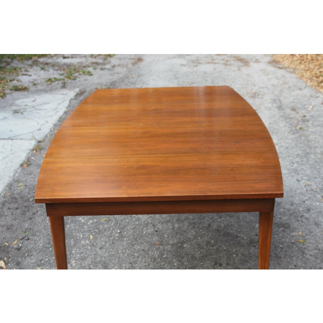 Mid-Century Danish Modern Walnut Surfboard Dining Table - Image 3 of 5