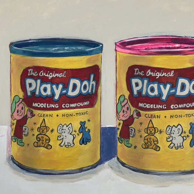 "Contemporary Philadelphia Illustrator Stephen Heigh "" Play-Doh"" Original Painting For Sale - Image 4 of 6"