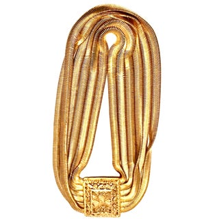 20th Century Les Bernard Inc. Gold Choker Necklace For Sale