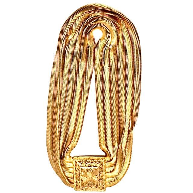 20th Century Les Bernard Inc. Gold Choker Necklace For Sale