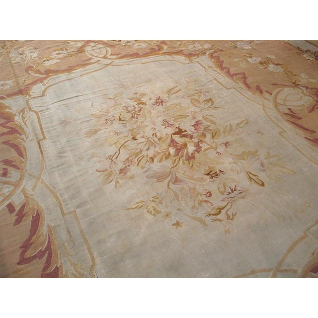 """French Antique French Aubusson Rug - 15'1"""" X 18' For Sale - Image 3 of 3"""