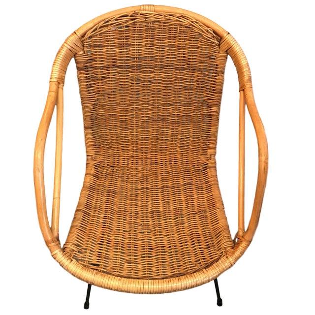 Vintage Rattan Hoop Chair - Image 4 of 5