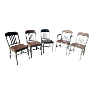 Aluminum Good Form Vintage Chairs - Set of 5 For Sale