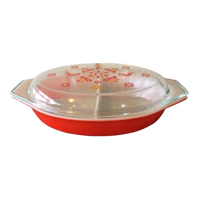 Vintage Pyrex Friendship Divided Casserole Dish - Image 1 of 11