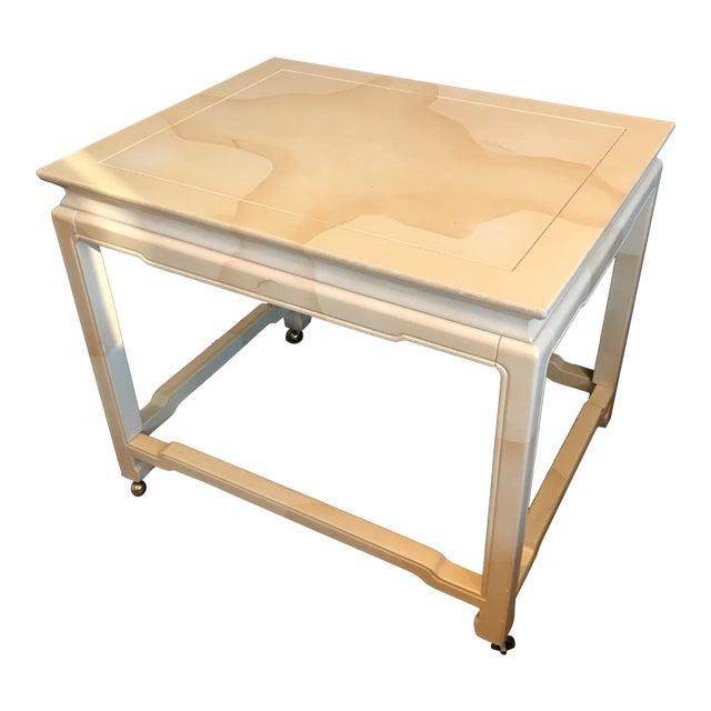 Henredon Chinoiserie Goatskin Lacquer Table - Image 1 of 11
