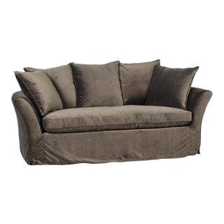Washed Velvet Sofa
