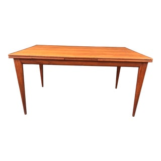 Mid Century Danish Modern Teak Dining Table by Niels Moller For Sale