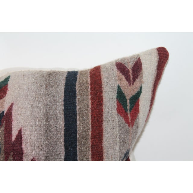 Green Native American Style Serape Pillows - A Pair For Sale - Image 8 of 10