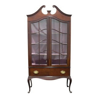 Antique Georgian Style China Cabinet For Sale