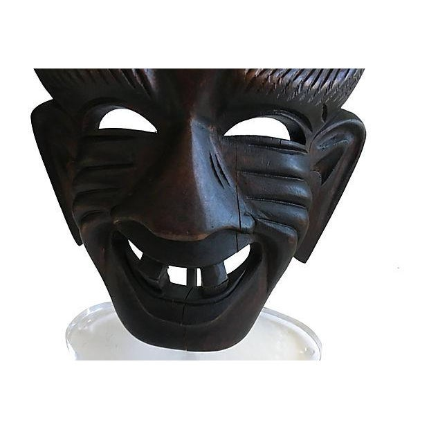 African Tribal Mask Lamps - A Pair For Sale In Austin - Image 6 of 7