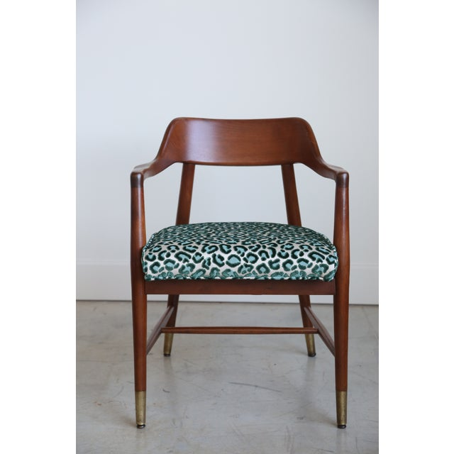 Mid-Century Modern Armchair in New Animal Print - Image 3 of 5