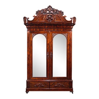 John Henry Belter Rosewood Armoire For Sale