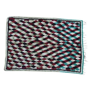 Maroon & Teal Moroccan Rug - 8' X 5'4'' For Sale