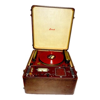 Cromwell Phonograph and Record Cutting Lathe, Rare, Circa 1930's For Sale
