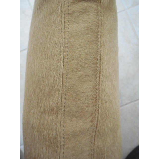 """2010s Wool Mohair Coach 18"""" Square Pillow For Sale - Image 5 of 9"""