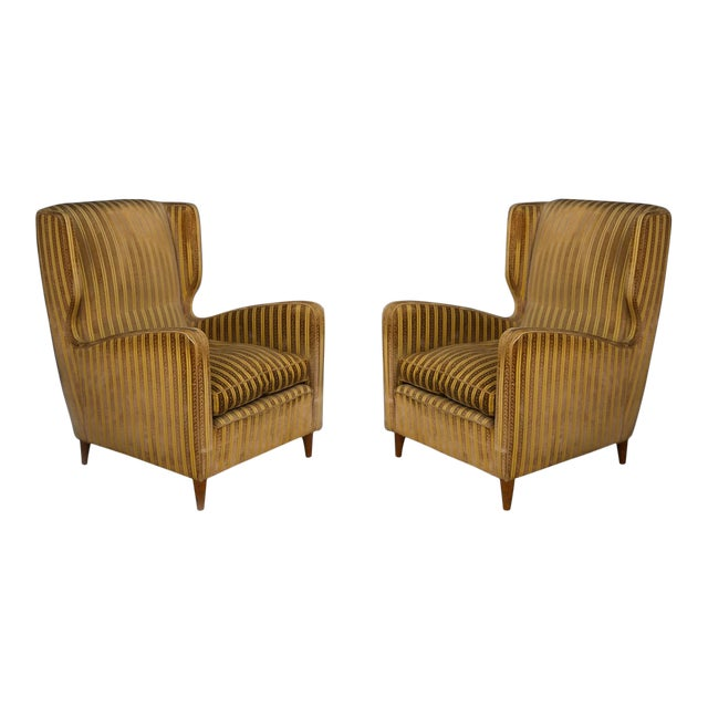 Pair of Armchairs Melchiorre Bega for Grand Hotel Milano 1950 For Sale