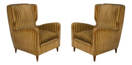 Image of Wood Corner Chairs