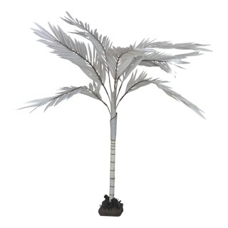 Red Palm Canvas Tree