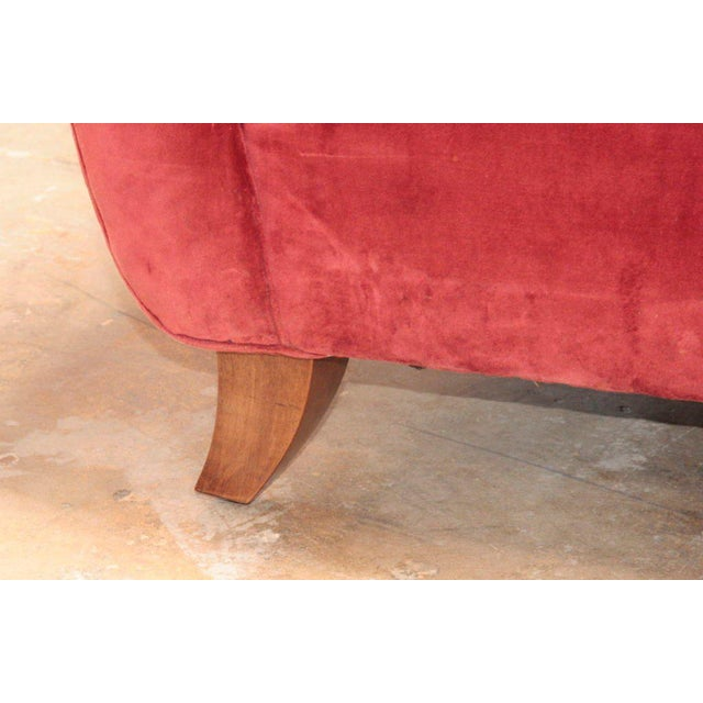 Red Italian Armchairs attributed to Guglielmo Ulrich For Sale - Image 8 of 9