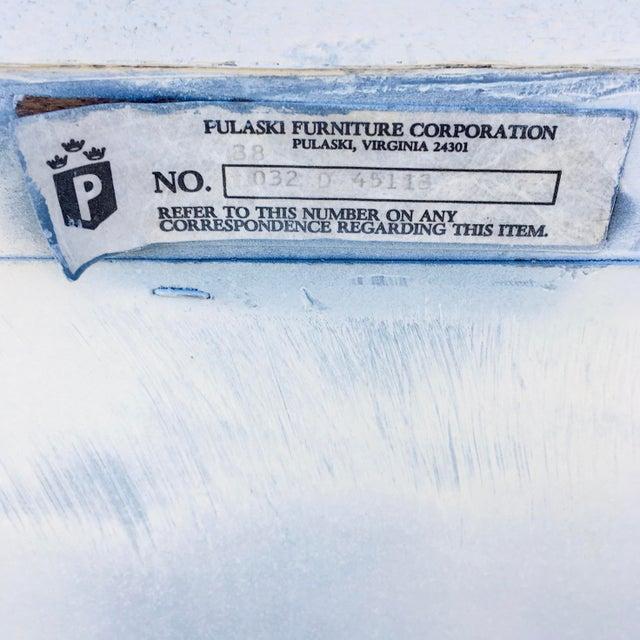 1980s Pulaski Furniture Nightstand W/ Crystal Pulls For Sale - Image 12 of 13