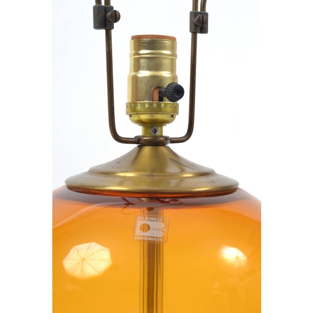 Wood Blenko Blown Glass Lamp Designed by Don Shepherd For Sale - Image 7 of 10