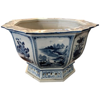 Chinese Octagon Blue and White Bowl For Sale