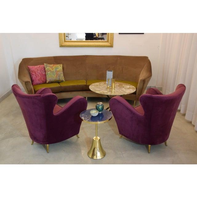 Purple Italian Mid-Century Velvet Armchairs by ISA Bergamo, Set of Two, 1950s For Sale - Image 8 of 13