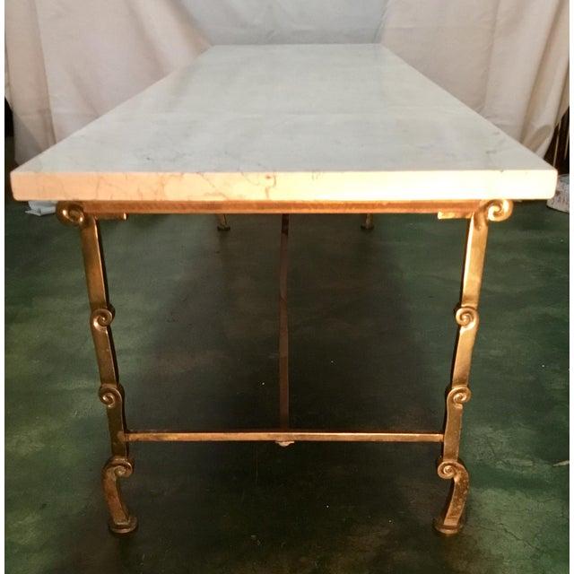 Metal Vintage Hollywood Regency Coffee Table For Sale - Image 7 of 13