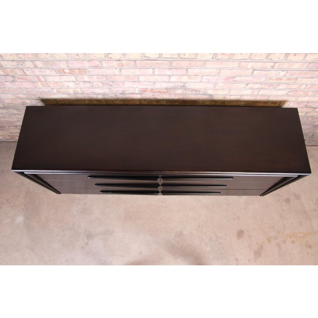Wood Edmond Spence Swedish Modern Ebonized Birch Dresser or Credenza, Newly Refinished For Sale - Image 7 of 13