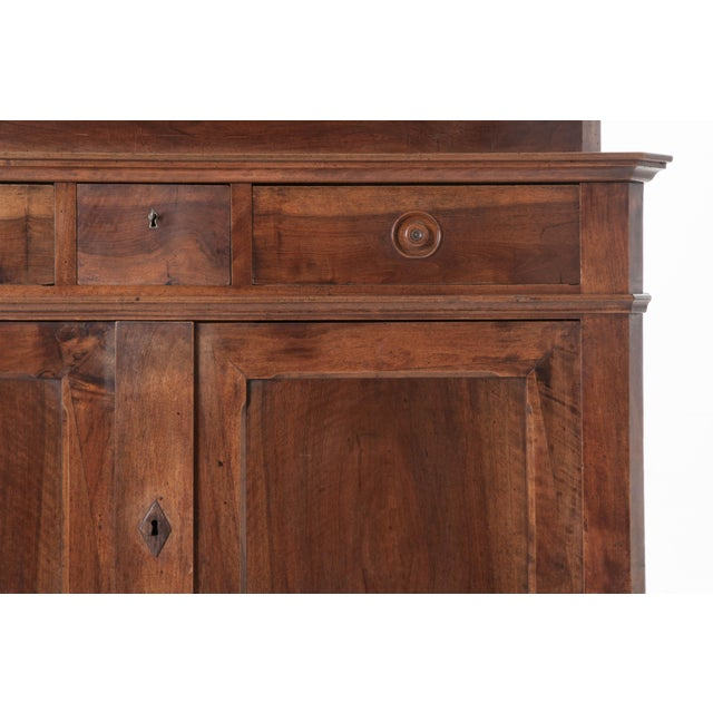 French 19th Century Walnut Louis Philippe Buffet A'Deux Corps - Image 7 of 10
