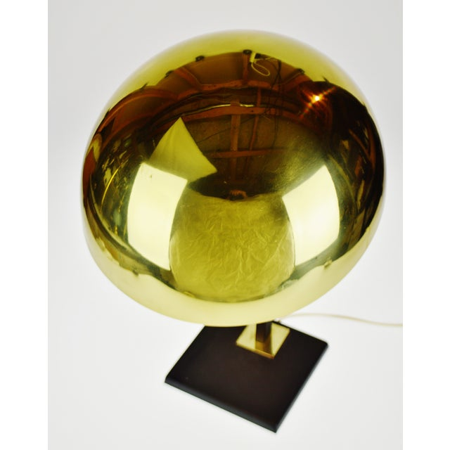 Mid 20th Century Mid Century Brass Dome Shade Desk Lamp For Sale - Image 5 of 13