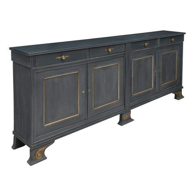 French Louis Philippe Antique French Buffet For Sale - Image 3 of 10
