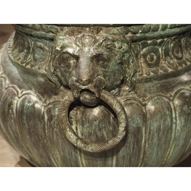 Large Antique Patinated Bronze Jardiniere From Italy, Circa 1890 For Sale - Image 12 of 13