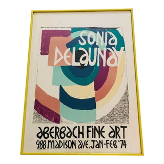 Sonia Delaunay, Exhibition at Aberbach Fine Art, Lithograph Poster For Sale