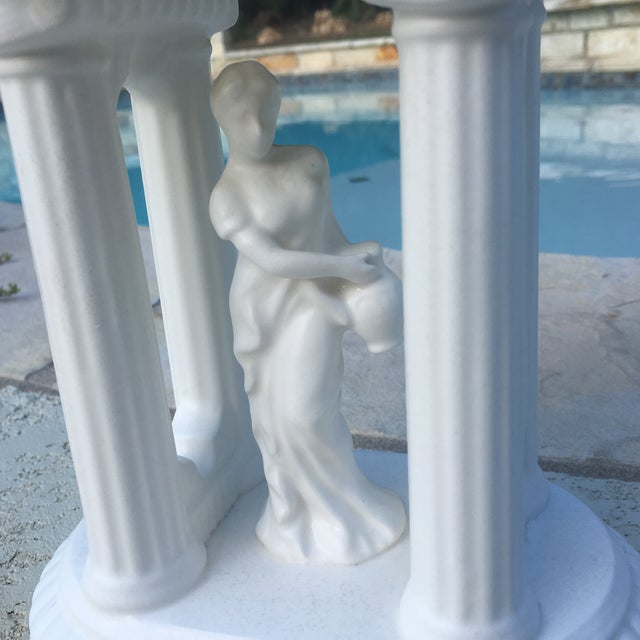 White Mid-Century Neoclassical Matte Finish Planter For Sale - Image 8 of 11