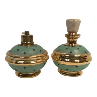 Mid-Century Perfume Bottles - Set of 2