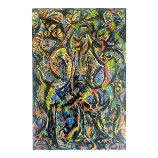 "Jackson Pollock Foundation Abstract Expressionist Collector's Lithograph Print "" Gothic "" 1944 For Sale"