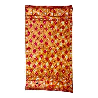 Vintage Phulkari Bagh Dowry Textile West Punjab India For Sale