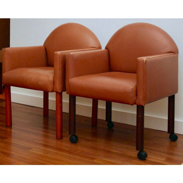 Buttery soft 100% real leather and supreme comfort are the hallmarks of these two chairs. Both manufactured by Kron, a...
