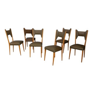 Set of 6 Chairs by Melchiorre Bega, For Sale