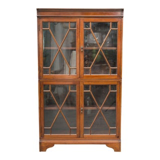 19th Century Dwarf English Bookcase For Sale