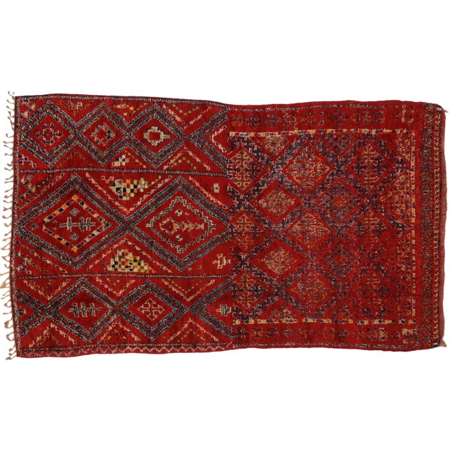 Vintage Berber Red Moroccan Rug 6' x 10'7 - Image 1 of 3