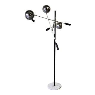 Mid Century Modern Sonneman Adjustable Floor Lamp For Sale