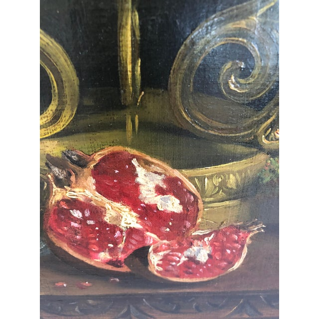 Canvas Realist Still Life by Francois Abel For Sale - Image 7 of 13